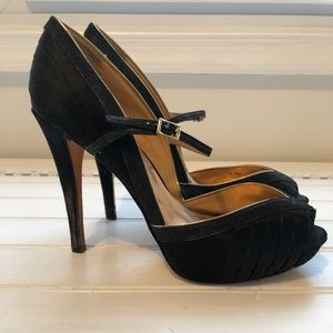 Badgley Mischka satin heels